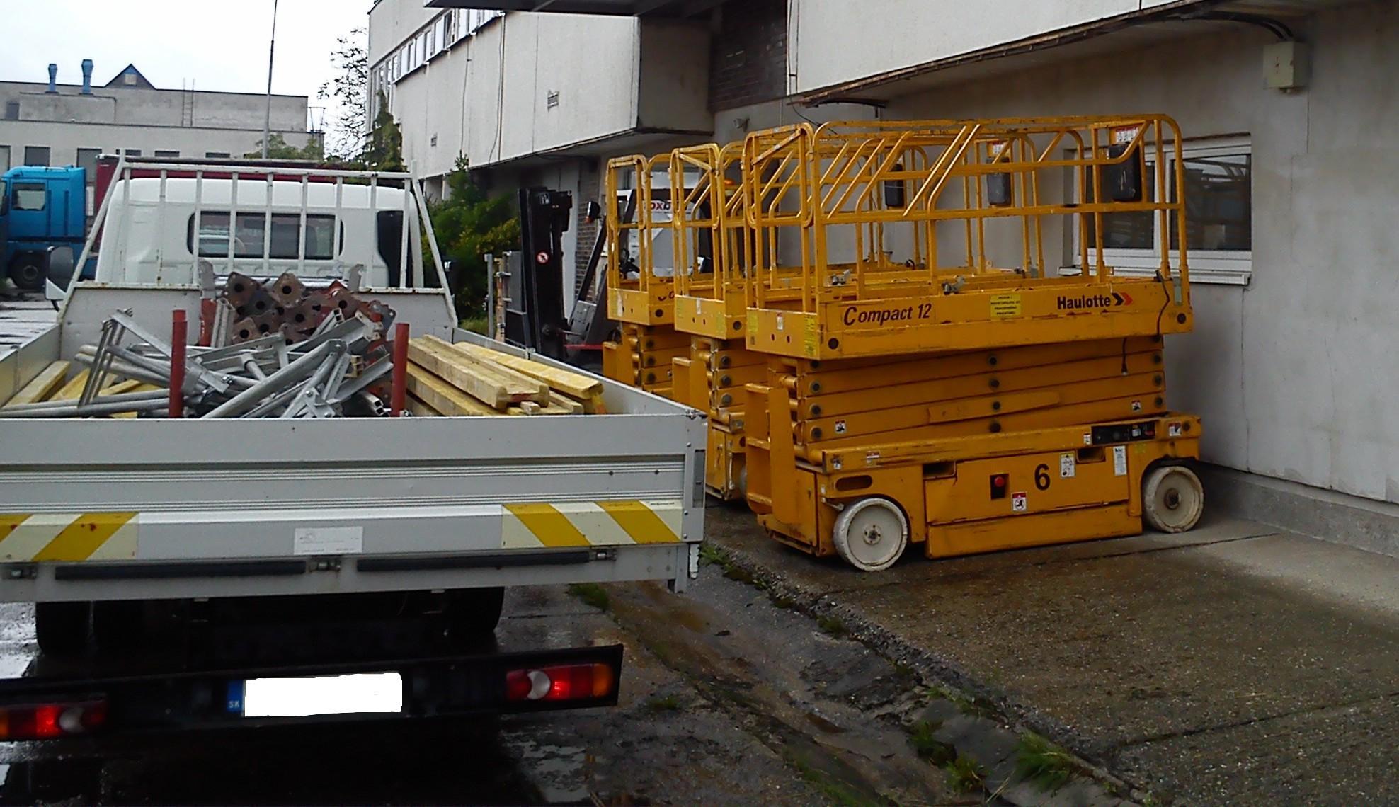 pracovné plošiny nitra - prenájom plošín