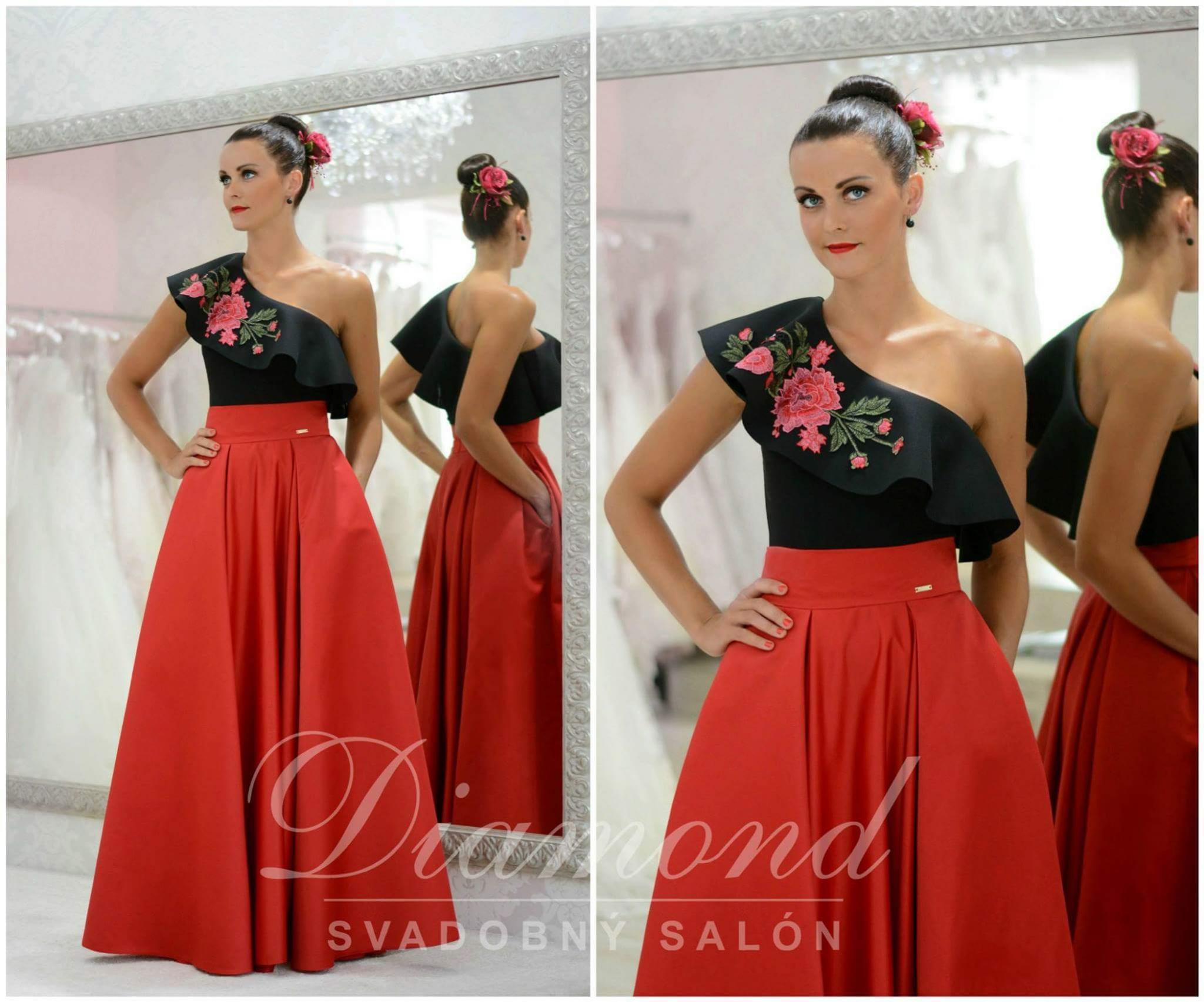 Diamond svadobný salón - saténové sukne