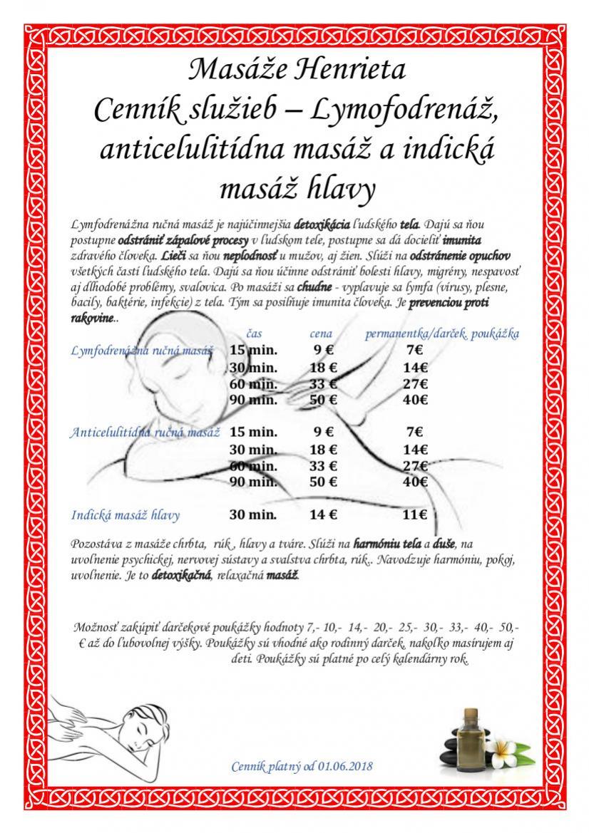 anticelulitidna masaz nitra cennik