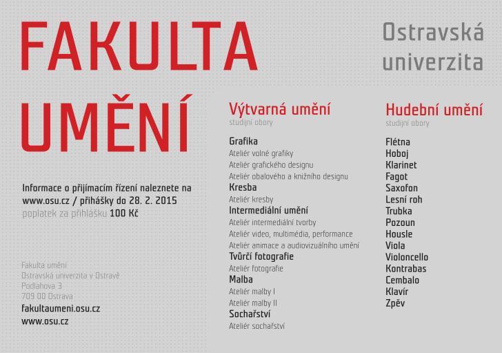 fakulta umeni ostravskej univerzity v ostrave
