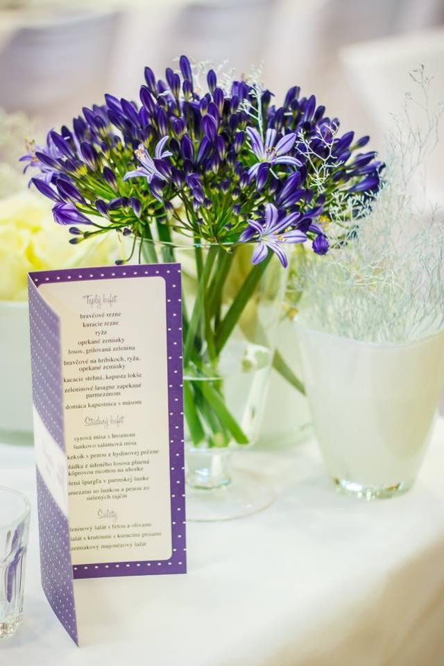 Mikado svadba stolovanie