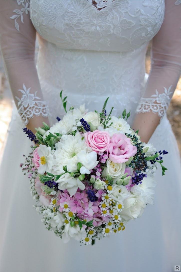 svadobná kytica poľné kvety