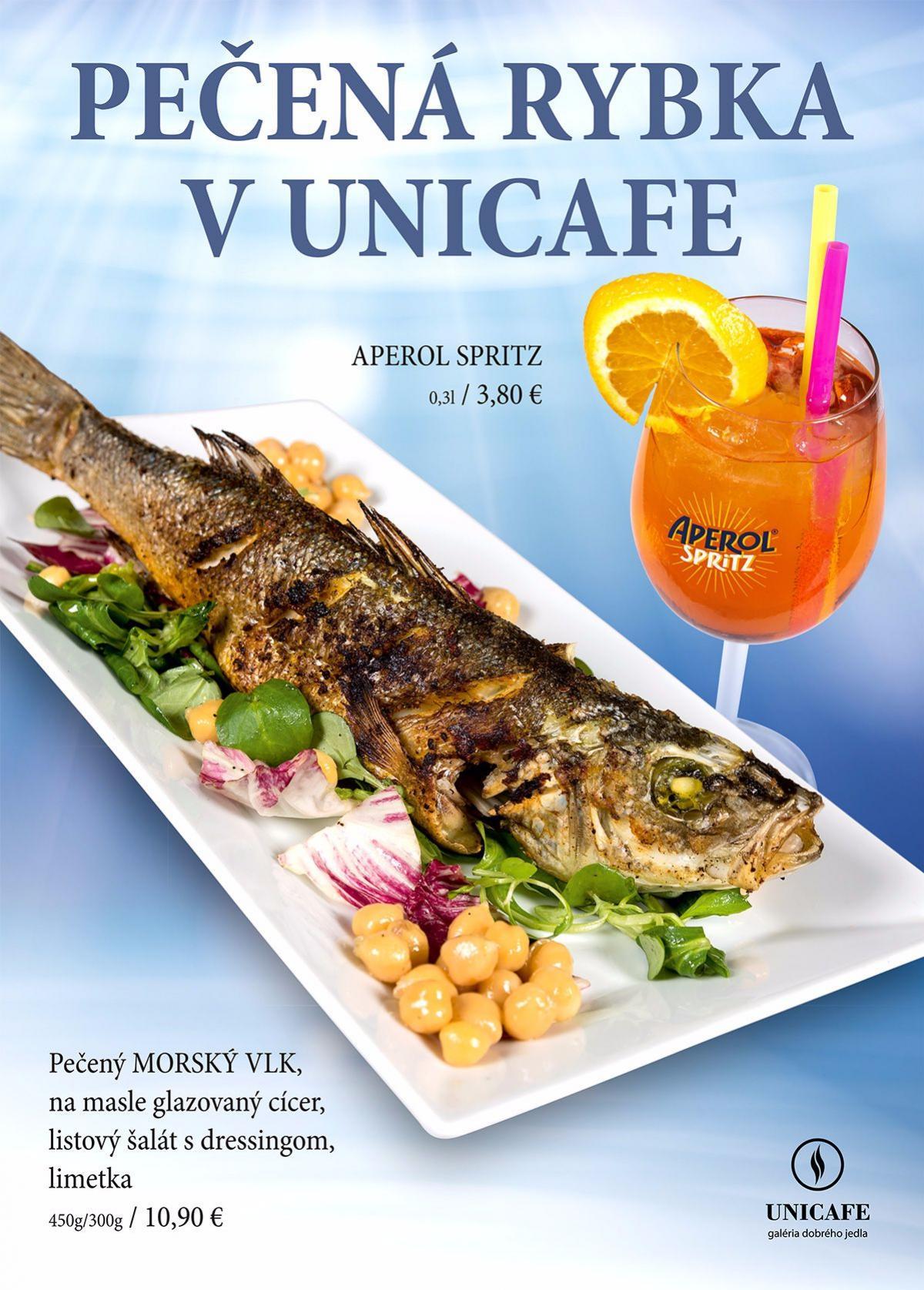 Unicafe - j�lov� ponuka jed�l