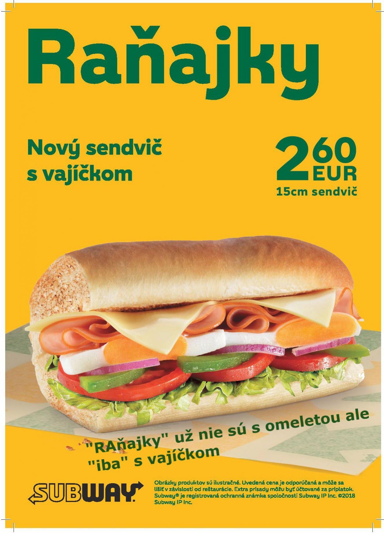Subway Kynek - ra�ajky s vaj��kom