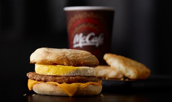 Raňajkové menu v McDonalds každý deň do 10:30