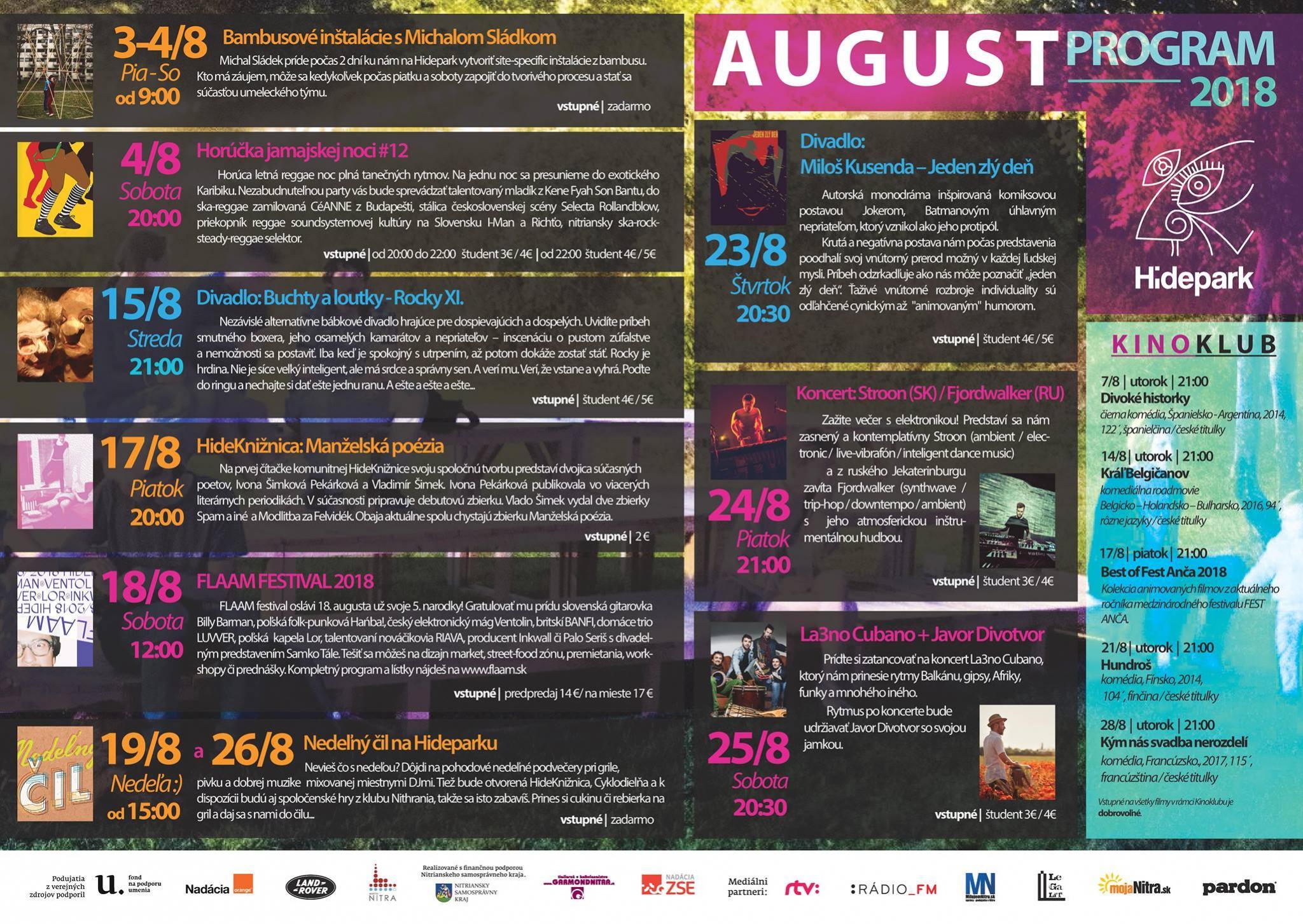 hidepark program august