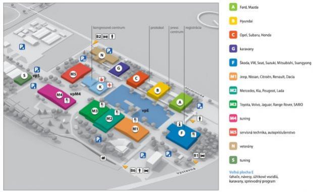 Mapka Agrokomplexu v Nitre