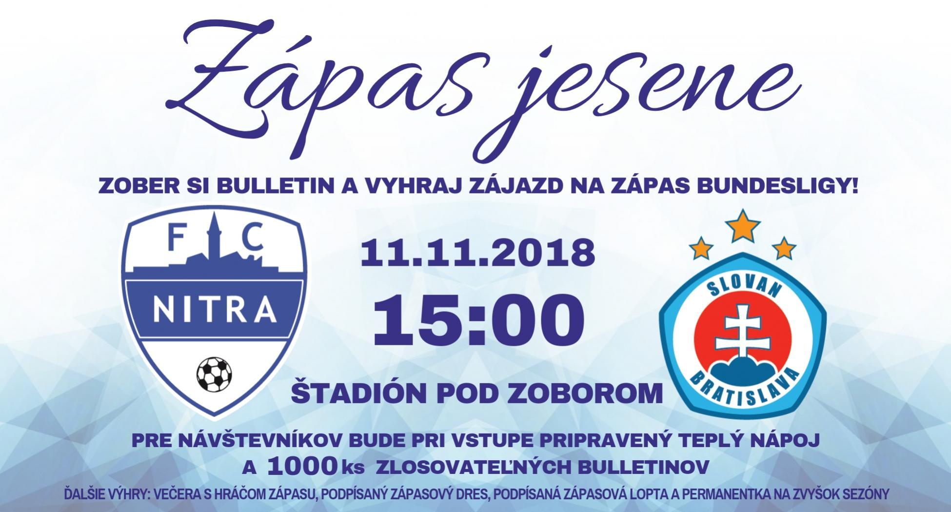 Jesenn� z�pas FC Nitra verzus SK Slovan Bratislava