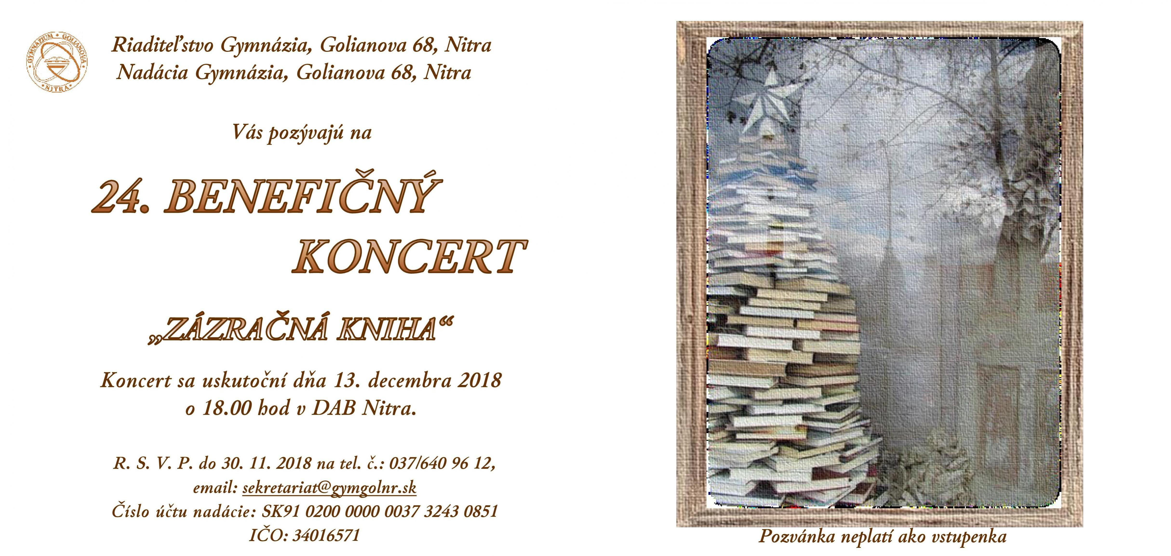 Golianko v Nitre benefičný koncert