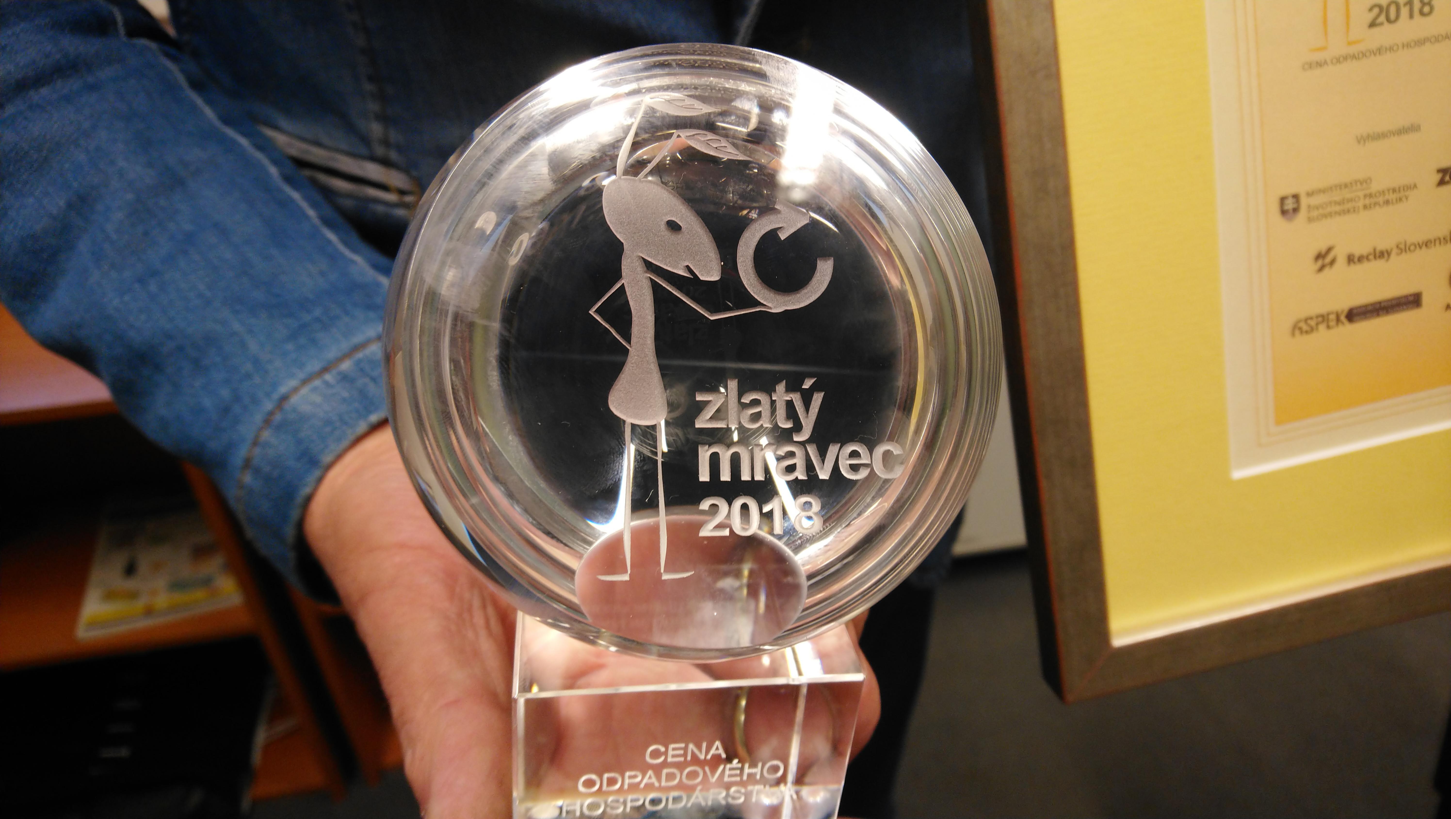 ocenenie zlaty mravec v spolupraci s Envi Geos Nitra