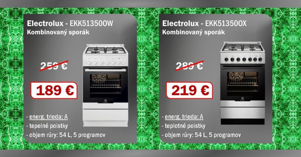 sporaky elektrolux nizska cena