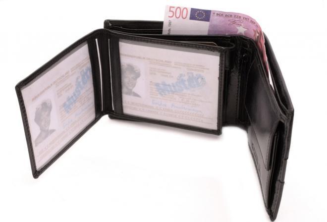 pánska čierna kožená peňaženka Mercucio