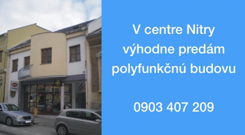 Polyfunkčná budova v Nitre na predaj