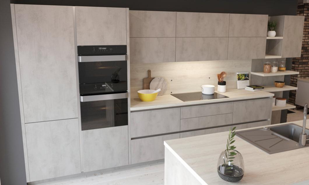 kuchynsk� linka cement-svetl� kuchyne Frozen Elektro Nitra