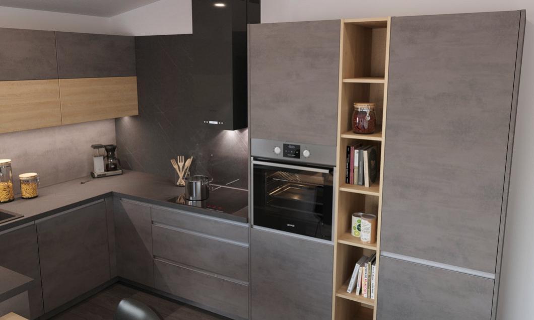 kuchynsk� linka cement-tmav� kuchyne Frozen elektro nitra