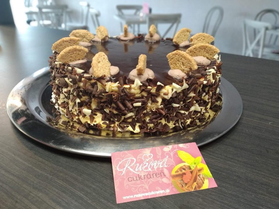cokoladova torta na objednavku nitra ružová cukráreň