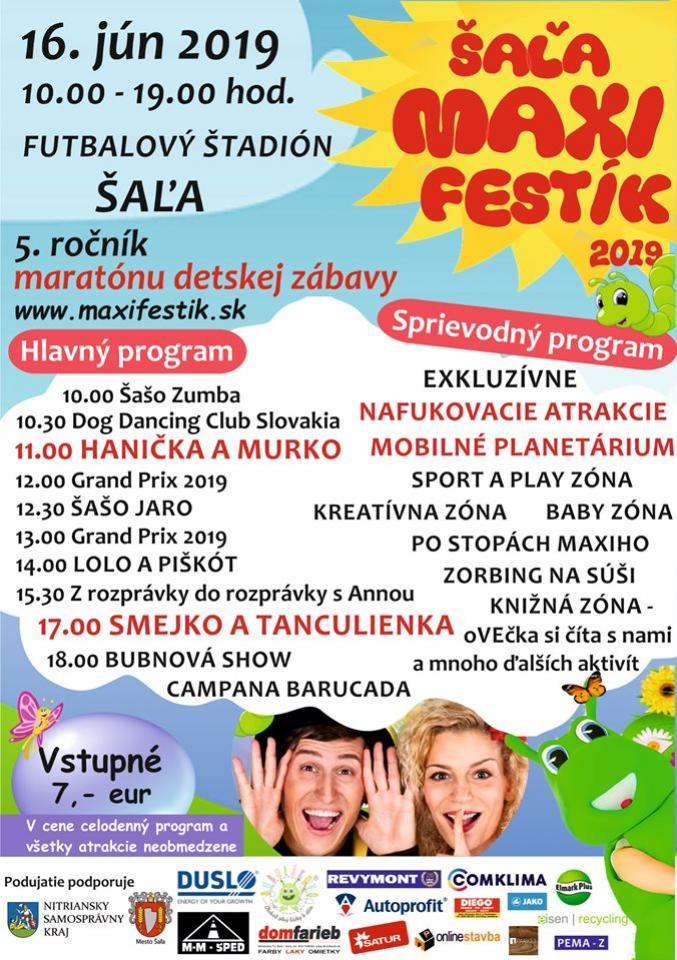 Maxi Festík Šaľa 2019 Smejko a Tanculienka