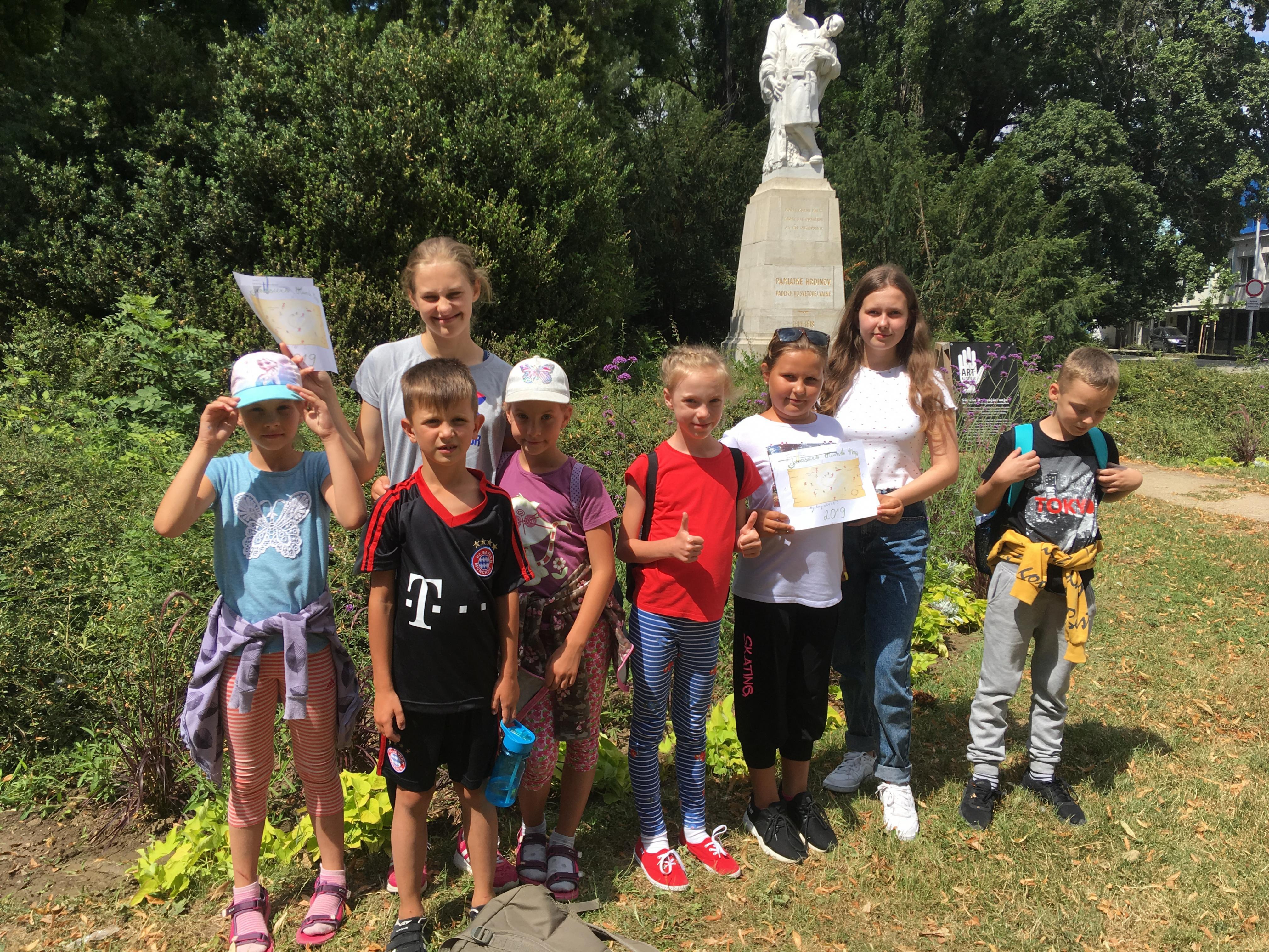 Letný tábor - liam school - poklad