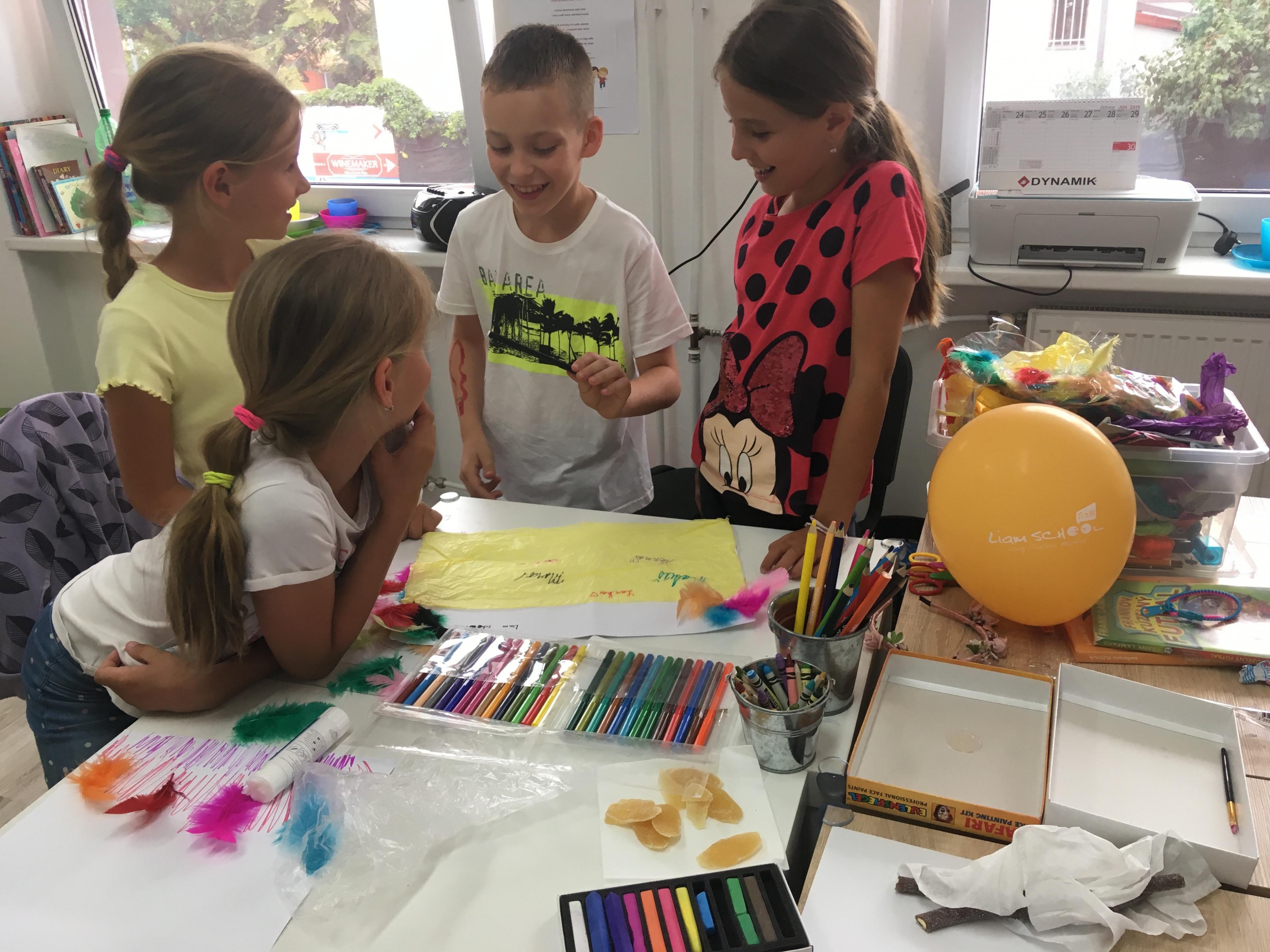 Letný tábor - liam school - art