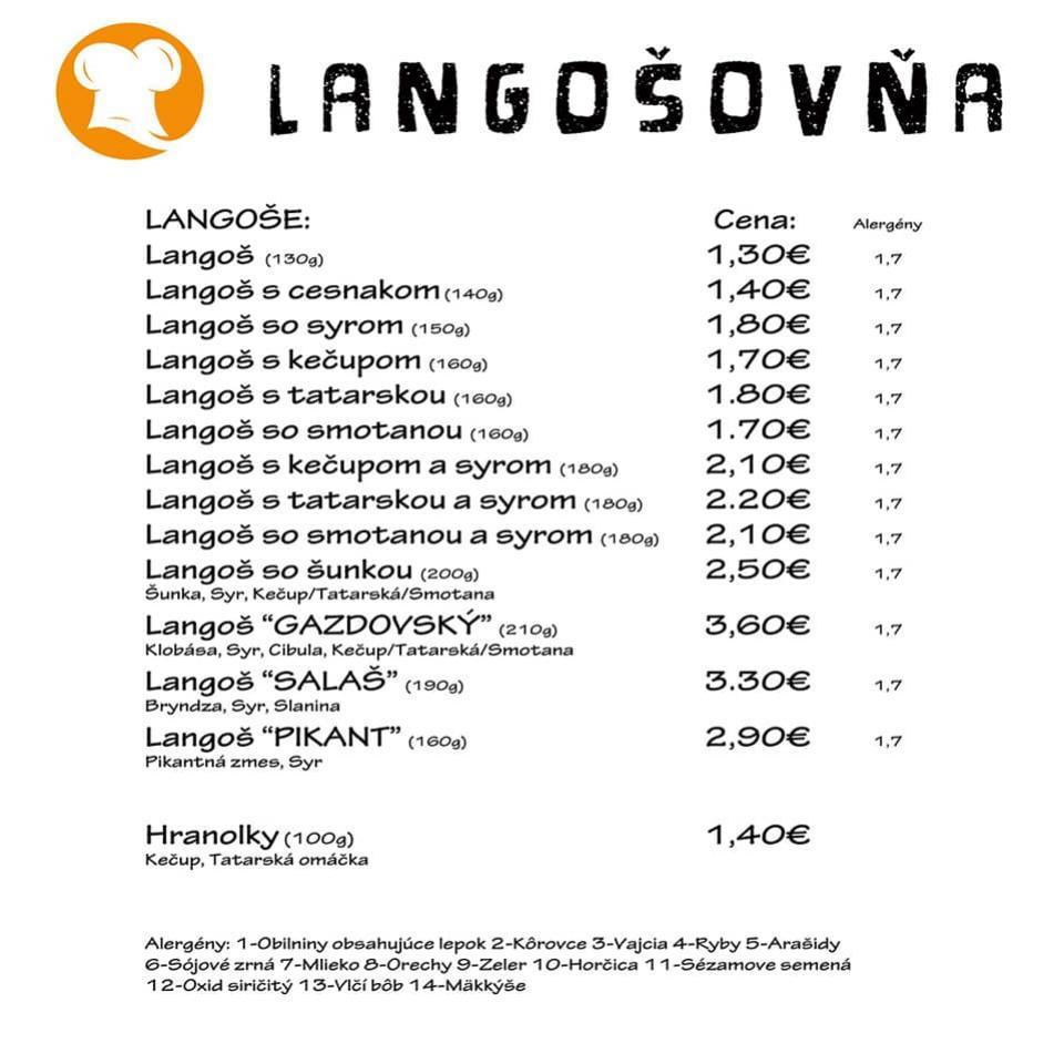 langosovna nitra ponuka langosov special