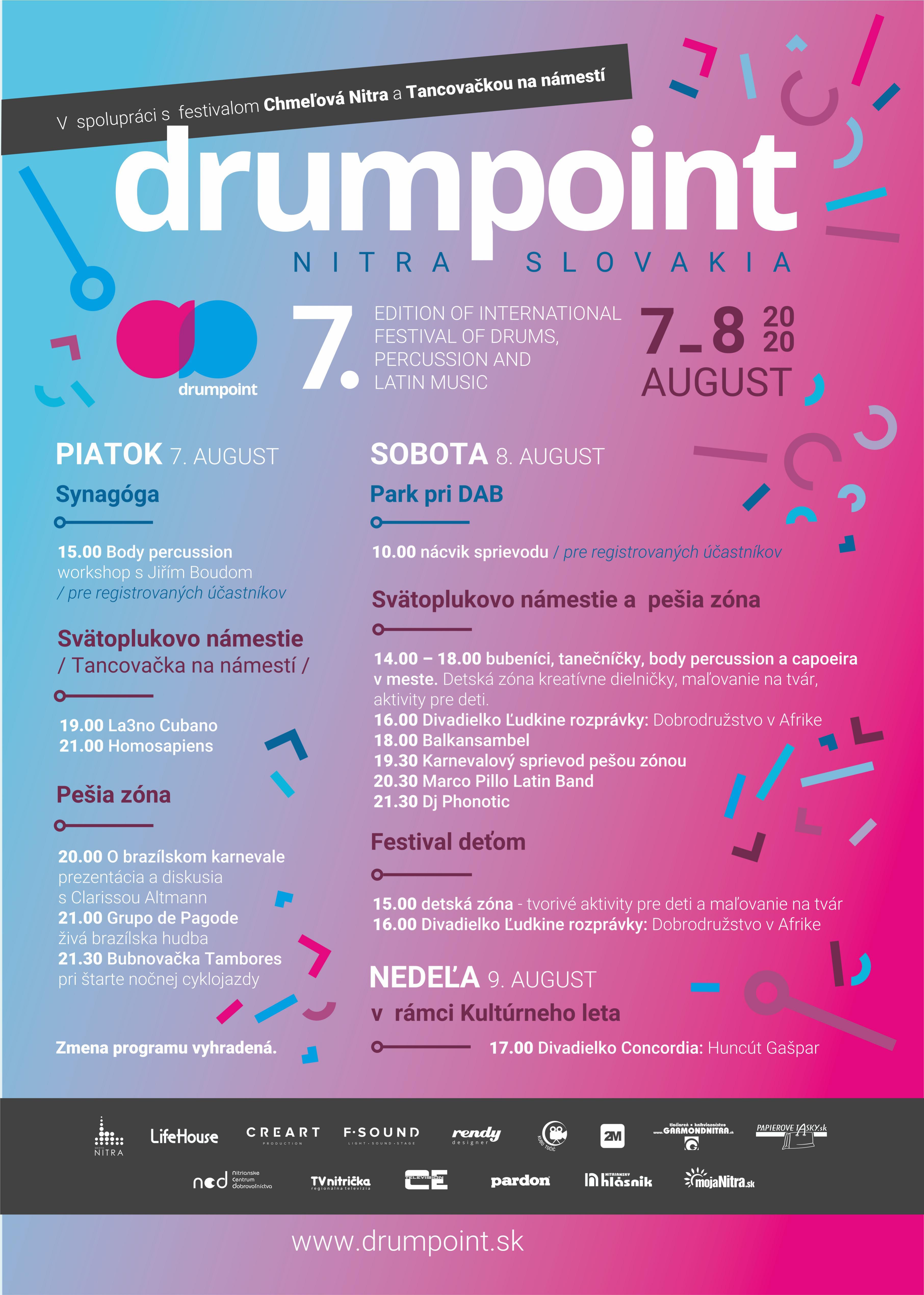 drumpoint 2020 nitra program
