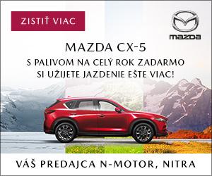 Nová Mazda CX5 - Akcia palivo na rok ZADARMO. Užite si bezstarostnú jazdu od jari do zimy. Zistite viac u vášho dealera Mazda Nmotor Nitra.