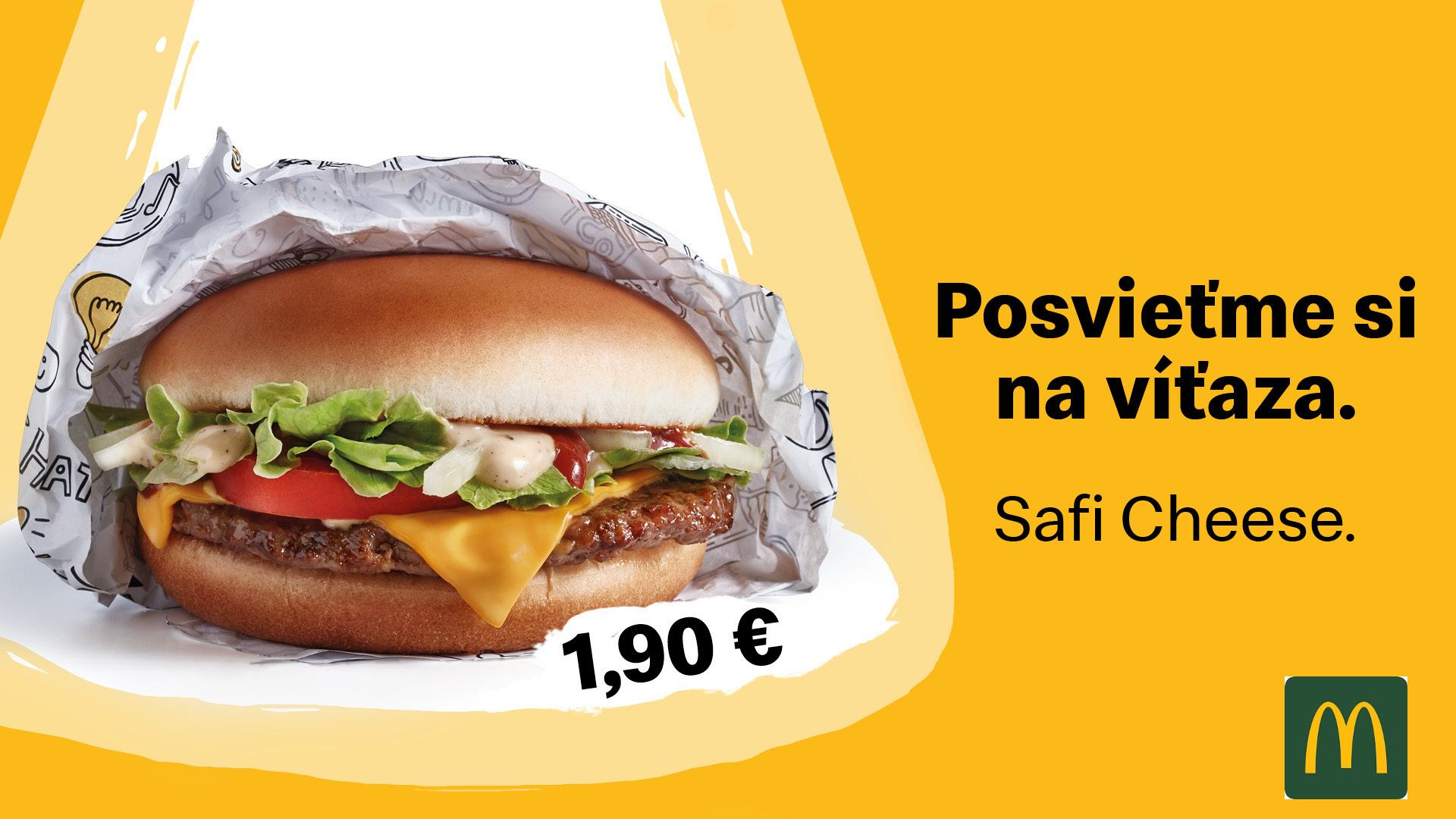 Príď ochutnať burger od skutočného mastera! Daj si Safi Cheese alebo Safi Chicken.