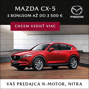 Mazda CX-5 teraz s bonusom až do 3500 €. Viac u predajcu N-motor Nitra