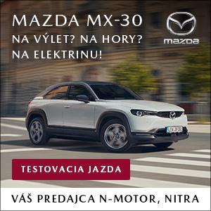 VÁŠ ELEKTRIZUJÚCI ZÁŽITOK S MAZDOU SA ZAČÍNA ÚPLNE NOVÁ MAZDA MX-30. N-motor Nitra - váš dealer Mazda