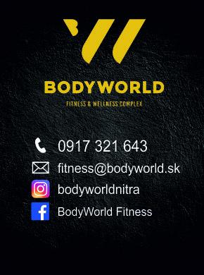Body World - Najmodernejšie fitness & wellness centrum v Nitre - Váš svet pre aktívny odpočinok. OTVORENÉ