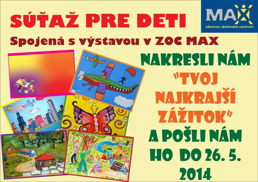 be630cca63d9 Súťaž pre deti spojená s výstavou v ZOC MAX Nit - Kariéra