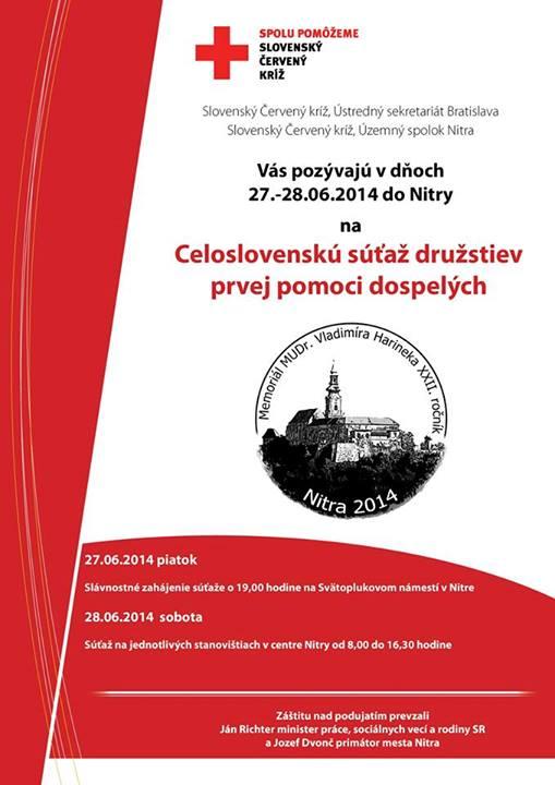 Celoslovenská súťaž so Slovenským Červeným kríž - Zdravie  f25c8b65db7