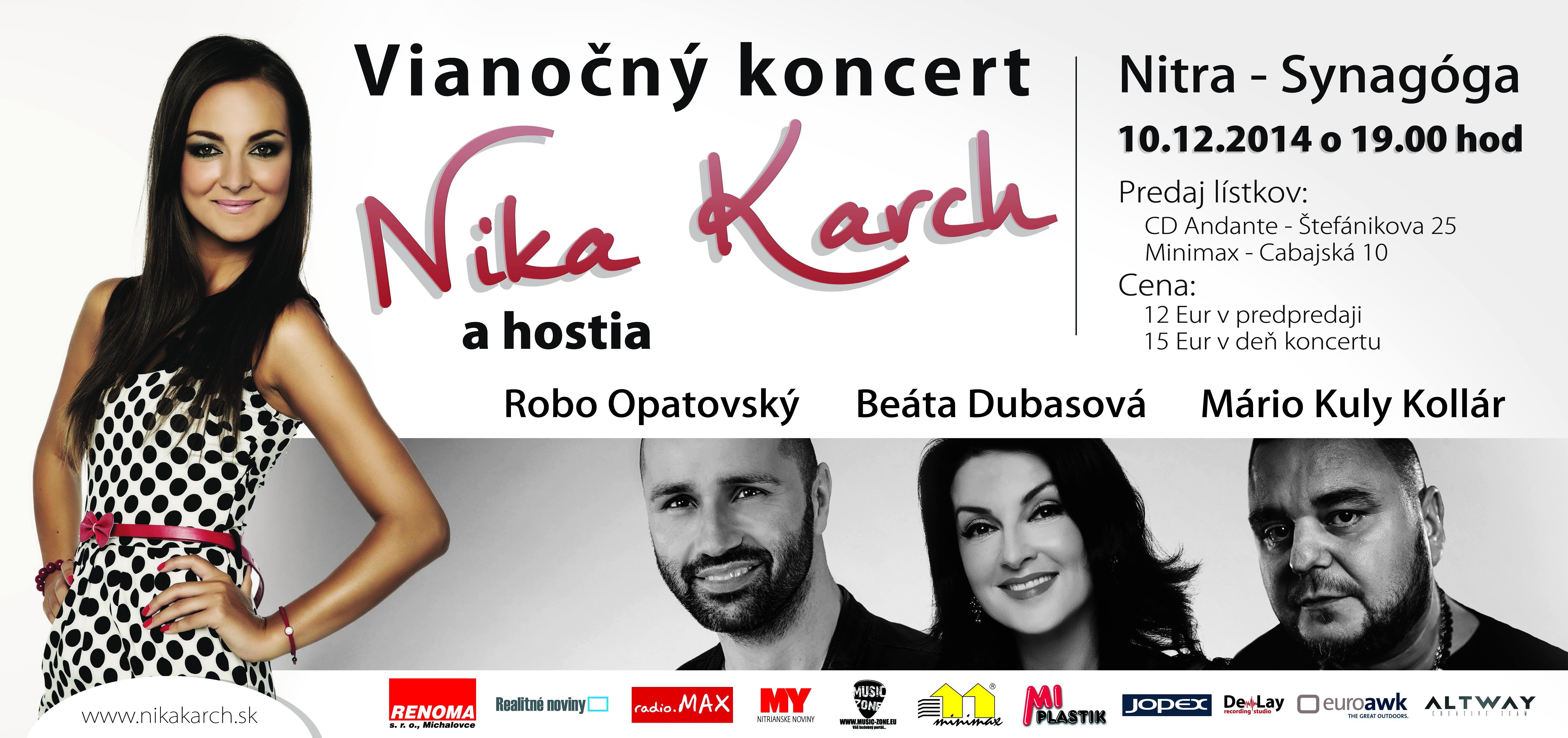Vianočný koncert Niky Karch v Synagóge - Služby a rôzne  de2e341db51