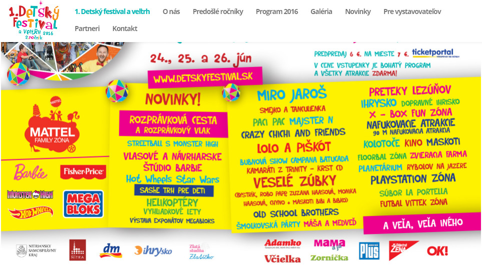 1. Detský festival a veľtrh 2016 - Kam v meste  cba3cdb772f