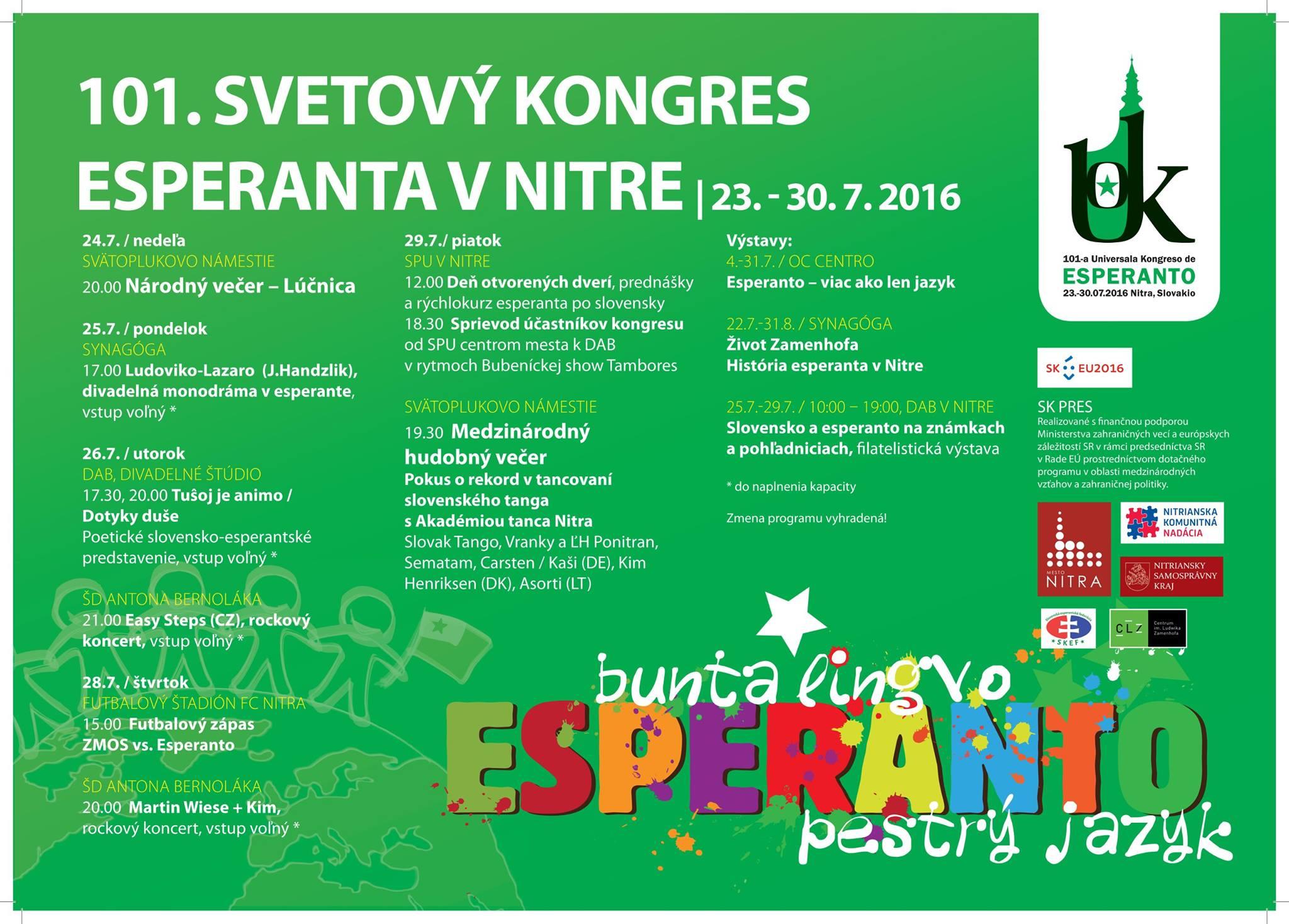 101. Svetový kongres esperanta - pozvánka n - Kam v meste  411bf5f4bcb