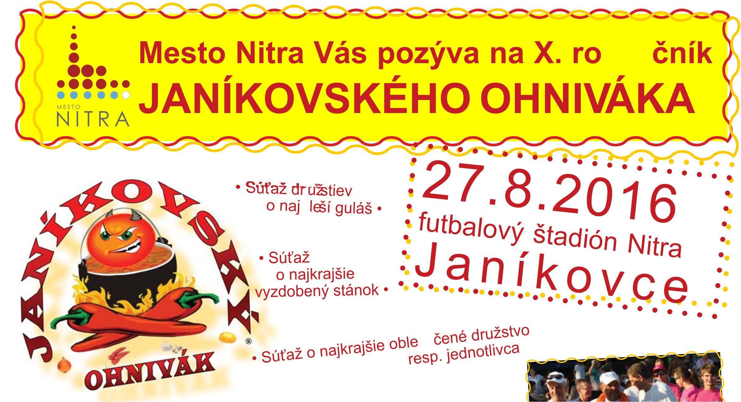 Pozvánka na Janíkovský ohnivák - Kam v meste  5f7c01affc2