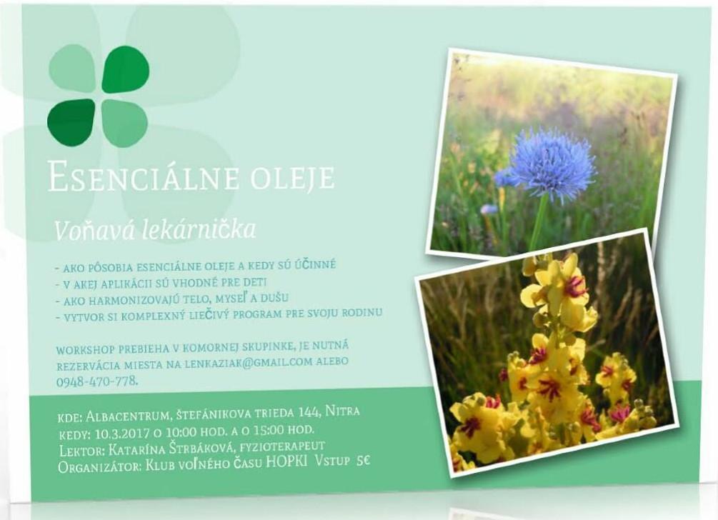 Workshop Esenciálne oleje - Voňavá lekár - Katalóg firiem  0262109ed6