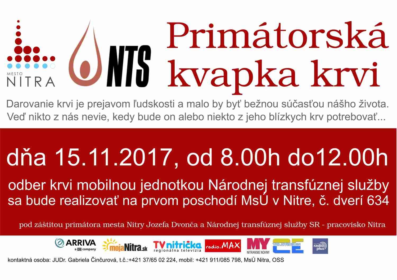 bc4cfa438c01 Primátorská kvapka krvi - Kam v meste