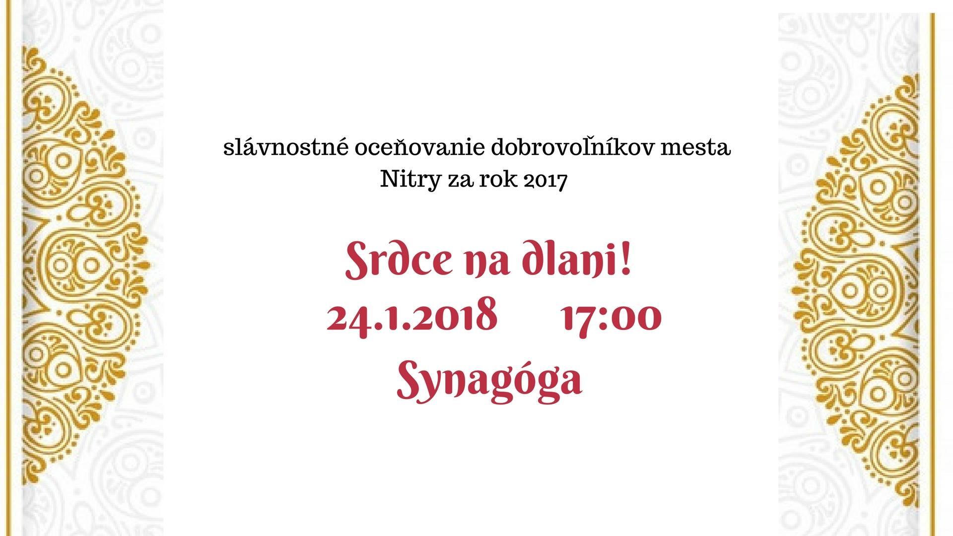 7216cfc090063 Srdce na dlani 2018 - Kam v meste | moja Nitra