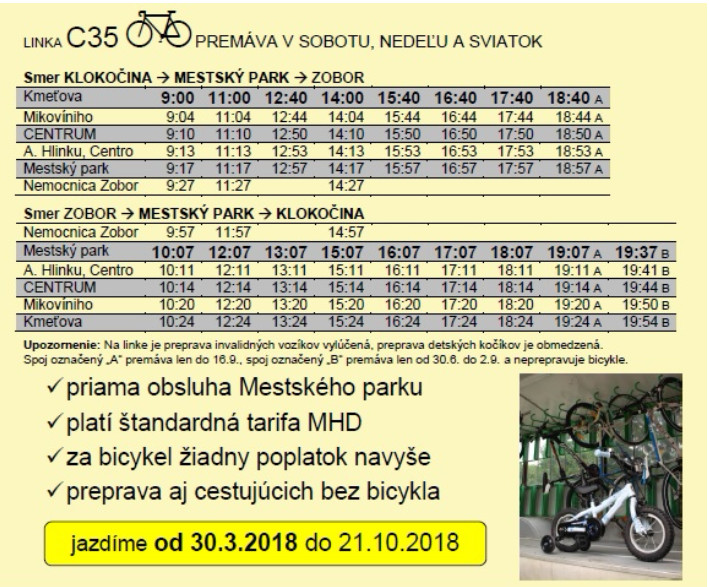 Ôsma sezóna cyklobusu v Nitre sa začne 30. - Kam v meste  86b4c4256b4
