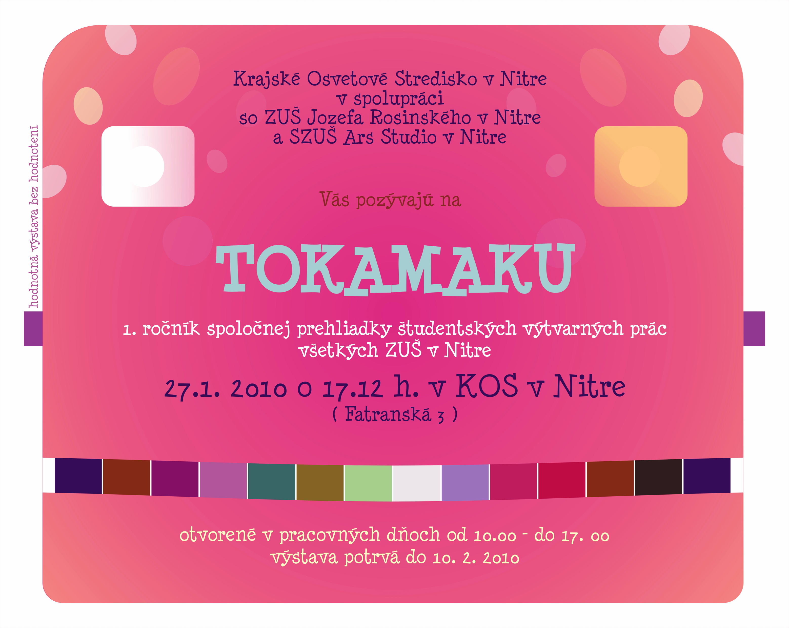 TOKAMAKU-spoločná prehliadka výtvarných prá - Móda 4a2c15e6564